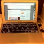 MacBook Airでモバイル!