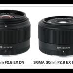 シグマのEマウント用レンズ『19mm F2.8 EX DN』と『30mm F2.8 EX DN』の発売日が4月に決まったのか
