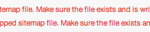 『XML Sitemap Generator』のエラーがやっと解決した…